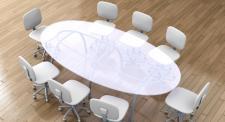 Ovale, runde oder eckige Glasplatten und Glastischplatten