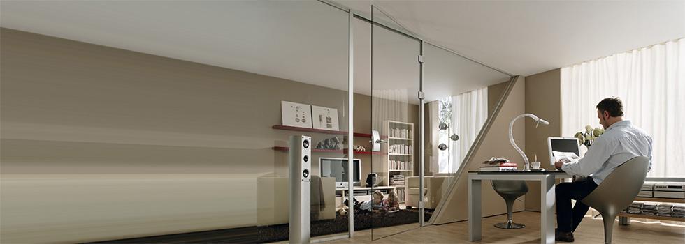 Raumteiler aus Glas mit Schallschutz und Schalldämmung