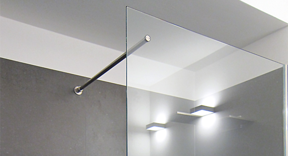Feststehende Glas-Trennwände für begehbare Glas-Duschen