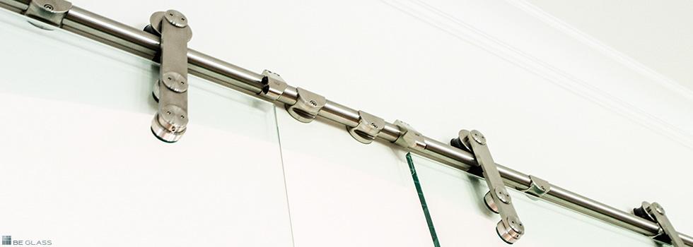 Glasschiebetüren mit Edelstahl-Rollensystem | BE GLASS, Berlin